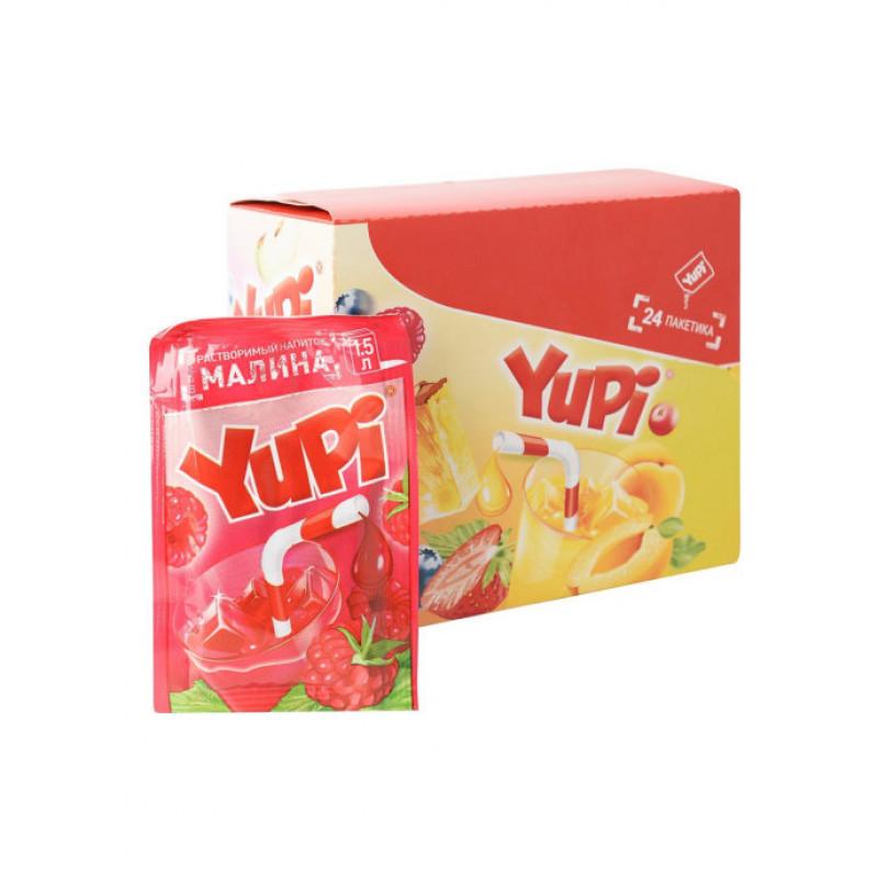 Yupi / Растворимый напиток со вкусом малины YUPI (блок 24шт по 15гр)