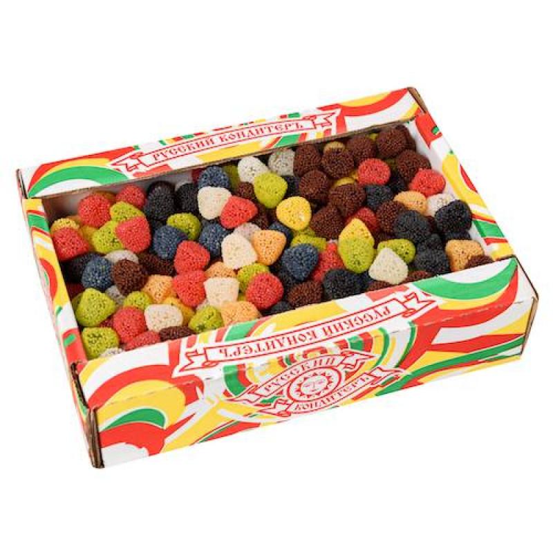 """Мармелад жевательный в обсыпке""""фруктовые фигурки"""" в форме ягоды супер микс 1,7кг"""