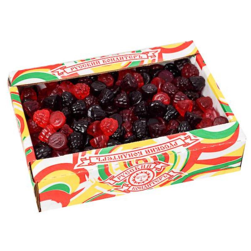 """Мармелад жевательный """"фруктовые фигурки"""" в форме ежевики 1,8кг"""
