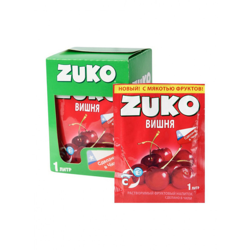 Zuko / Растворимый напиток со вкусом вишни ZUKO (блок 12шт по 25гр)