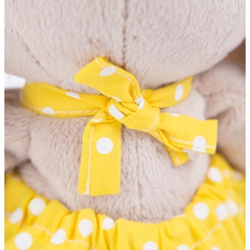 Мягкая игрушка Зайка Ми в жёлтом комбинезоне и с ромашкой