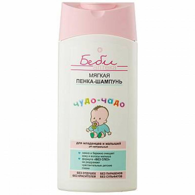 БЕБИ аптека чудо-чадо Мягкая пенка-шампунь для младенцев и малышей, 250мл 4810153022394 SALE