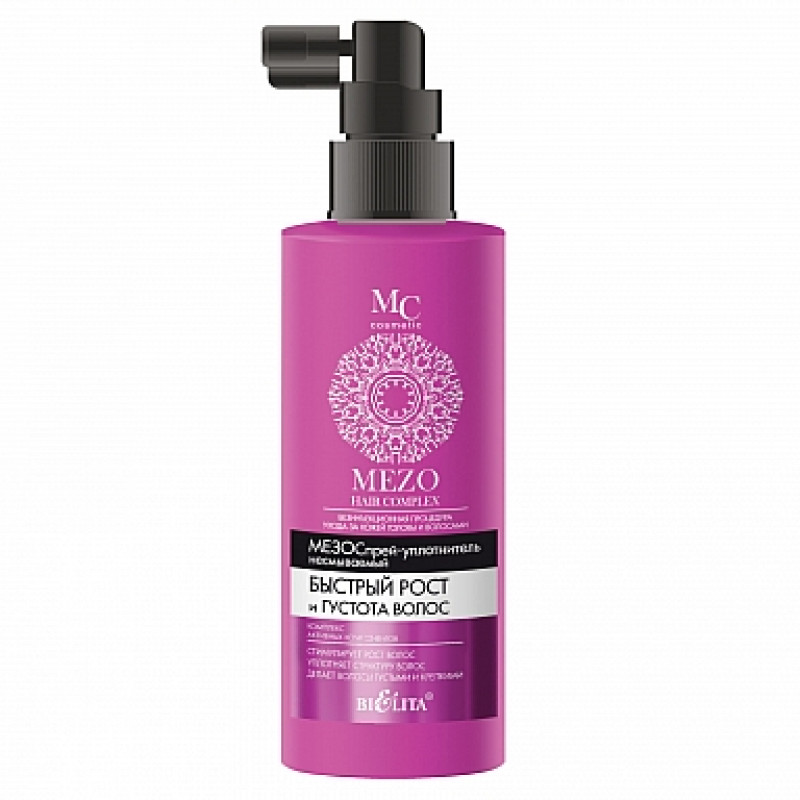 МезоCпрей-уплотнитель несмываемый Быстрый рост и Густота волос (150 мл MEZO HAIR) 4810151023669