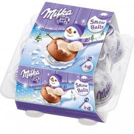 Шоколодные яйца Christmas Snowboolls Oreo с нежным кремом и крошкой печенья 112 гр