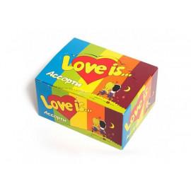 LOVE IS Жевательная резинка Микс Вкусов 4,2г* 100 шт.