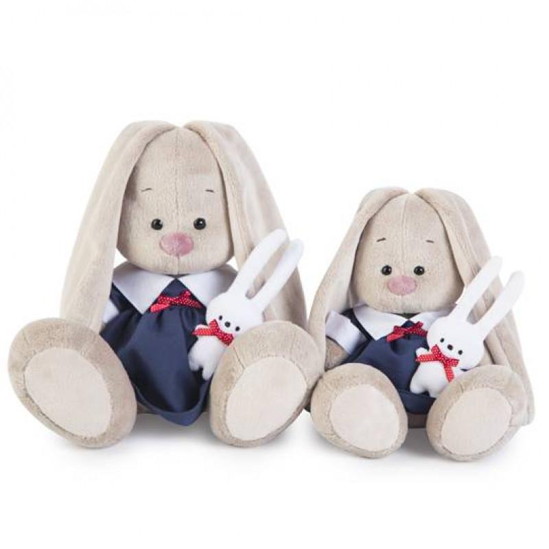 Мягкая игрушка «Зайка Ми в синем платье с зайкой» (малыш) Budi Basa SALE