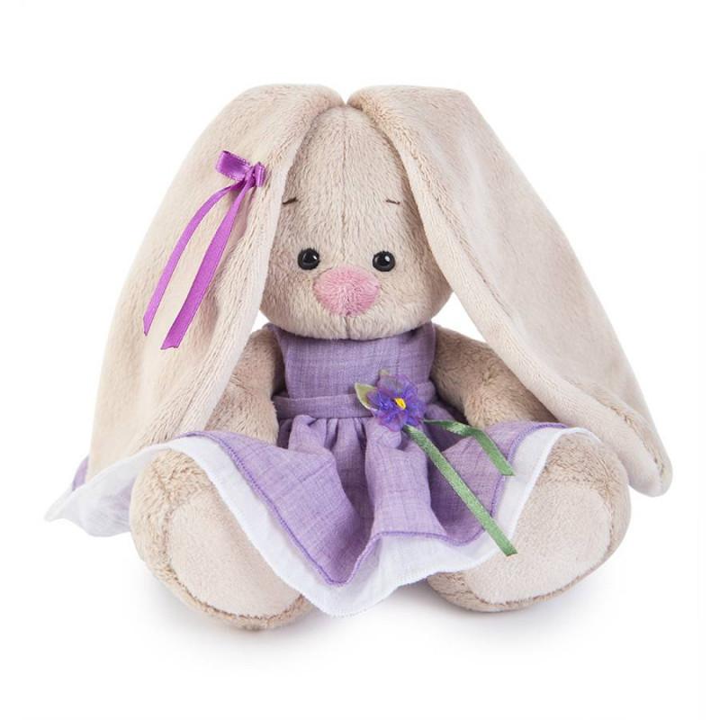 Мягкая игрушка «Зайка Ми в фиолетовом платье с цветочком» (малыш) Budi Basa SALE