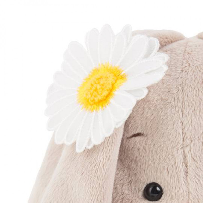 """Мягкая игрушка """"Зайка Ми"""" в жёлтом комбинезоне и с ромашкой (малыш) SALE"""