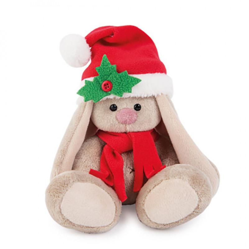"""Мягкая игрушка """"Зайка Ми"""" в красном колпачке и шарфе (малыш) SALE"""