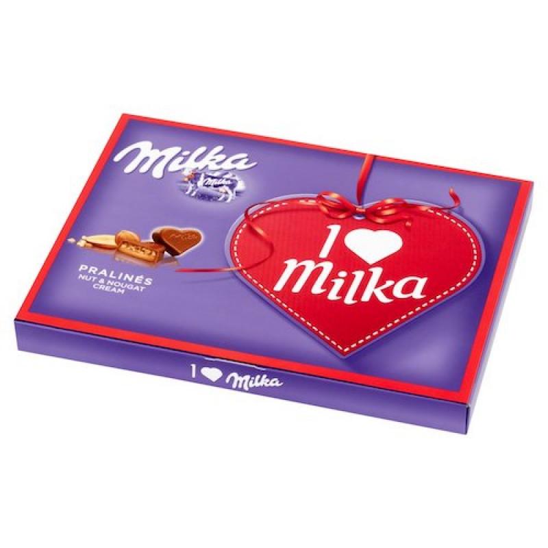 "Подарочный набор шоколада Милка ""I LOVE MILKA Nut&Nougat Cream Pralines"", 120гр."