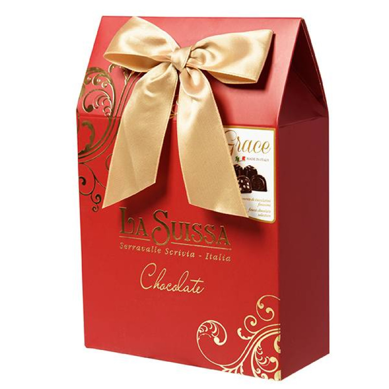 Набор Шоколадных Конфет La Suissa (красный) 215гр