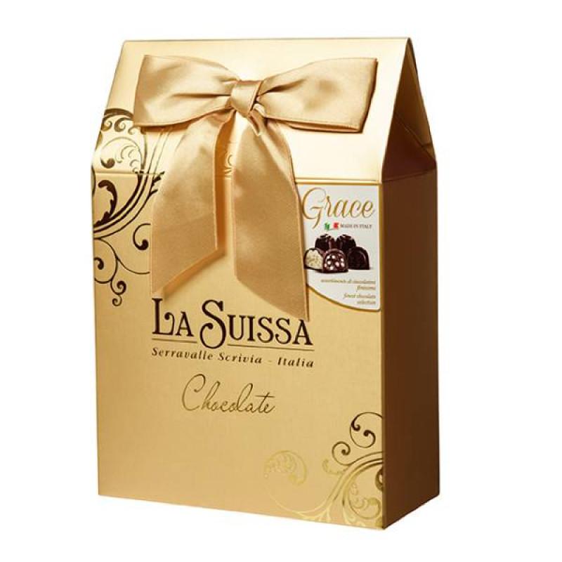 Набор Шоколадных Конфет La Suissa (золотой) 215гр