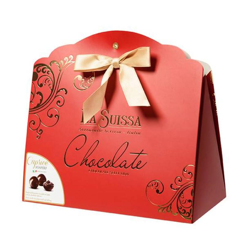 Набор Шоколадных Конфет La Suissa (красный) 200гр УЦЕНЕННЫЙ ТОВАР