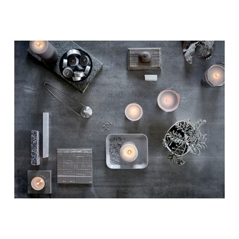 Ароматическая свеча в стакане, аромат Мускатный орех и ваниль, цвет серый 70350071