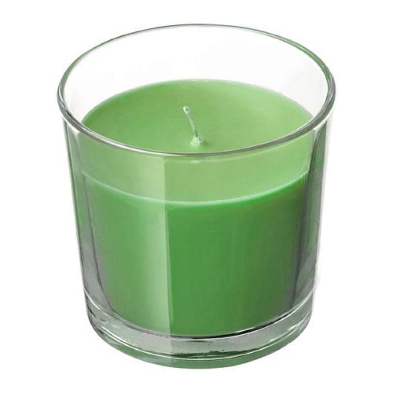 Ароматическая свеча в стакане, аромат Яблоко и груша, цвет зеленый 50350072