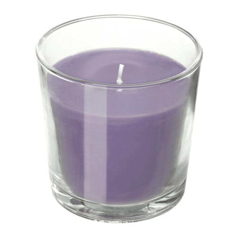 Ароматическая свеча в стакане, аромат Ежевика, цвет сиреневый 30350073