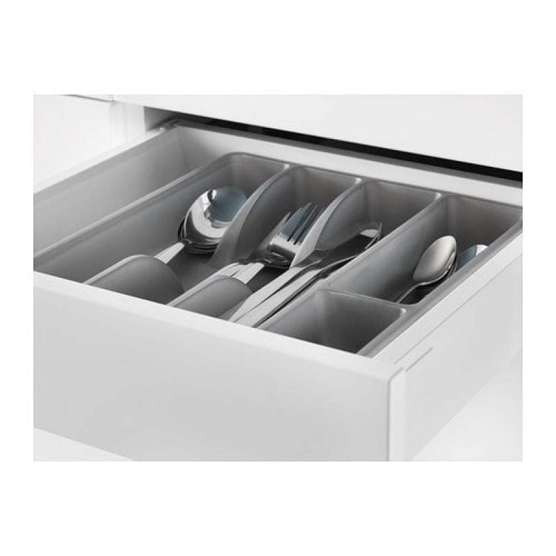 Лоток для столовых приборов, цвет серый 40367718