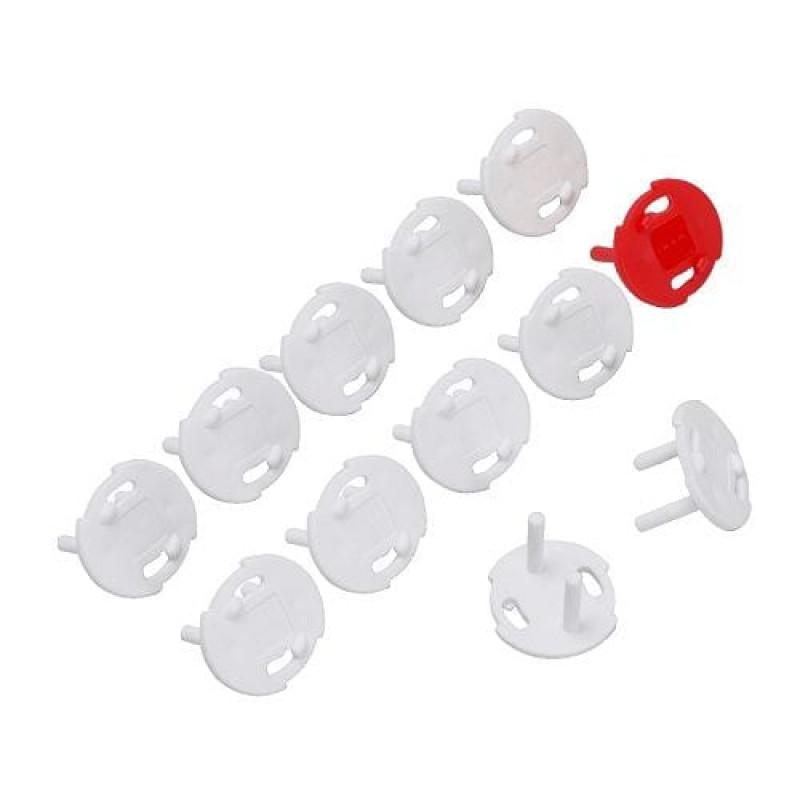 Заглушки в розетки, защита для детей, цвет белый 12 шт 60367816