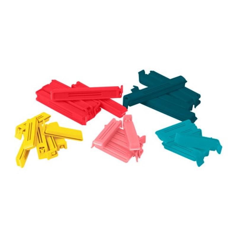 Зажим для пакетов, 30 штук, разные цвета и размеры 10374956