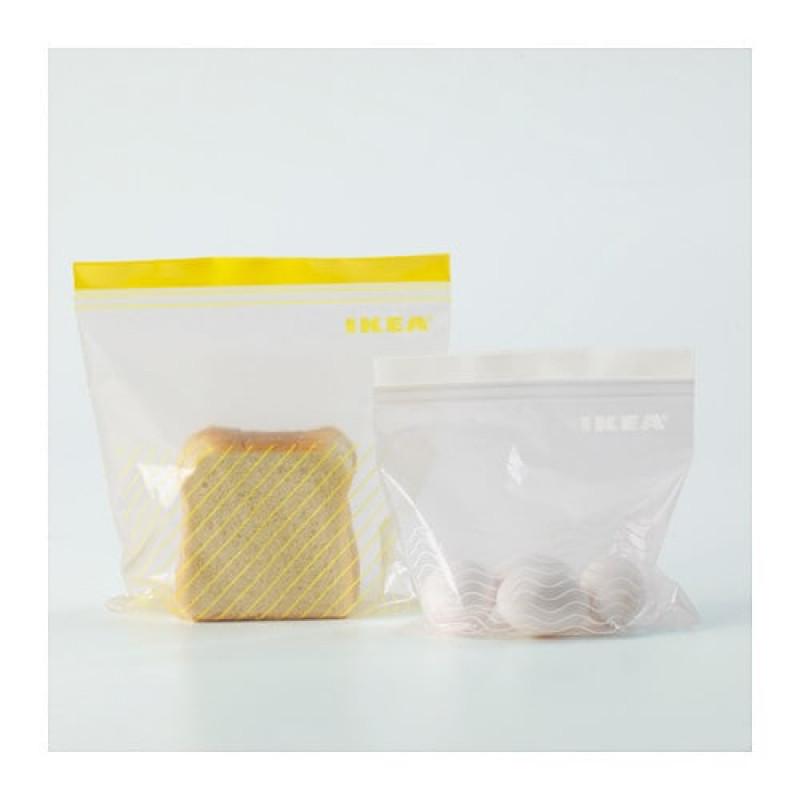 Пакеты пластиковые с замком, 50 шт 10378214