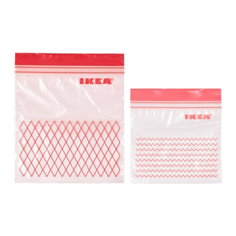 Пакеты пластиковые с замком, 60 шт 70374958