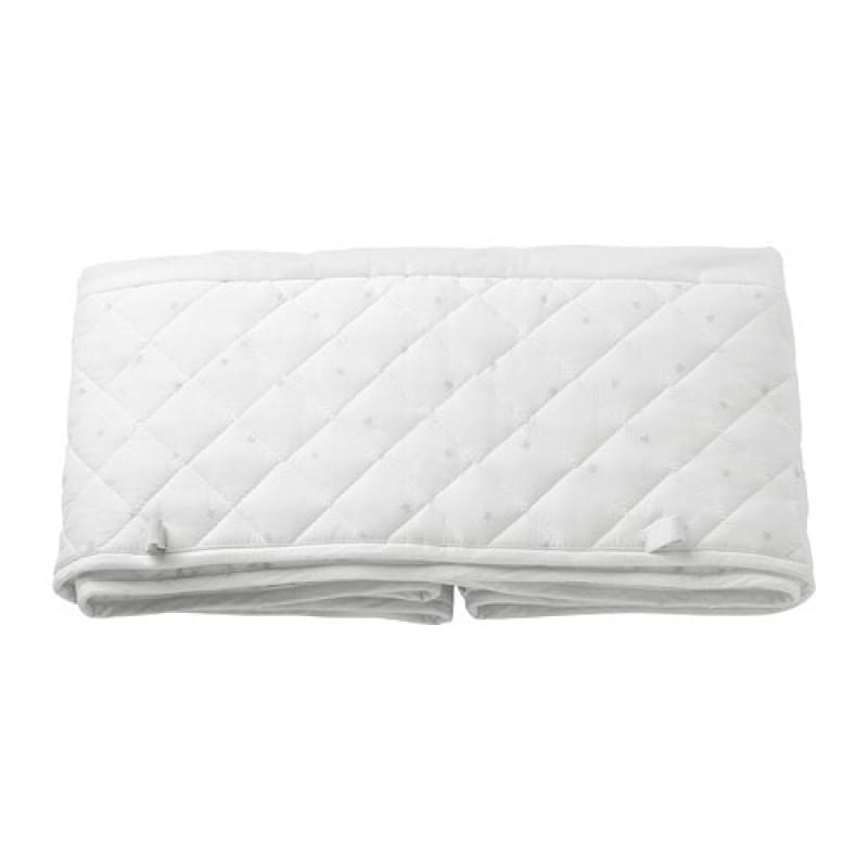 Мягкий бортик для детской кроватки, цвет белый 80370460