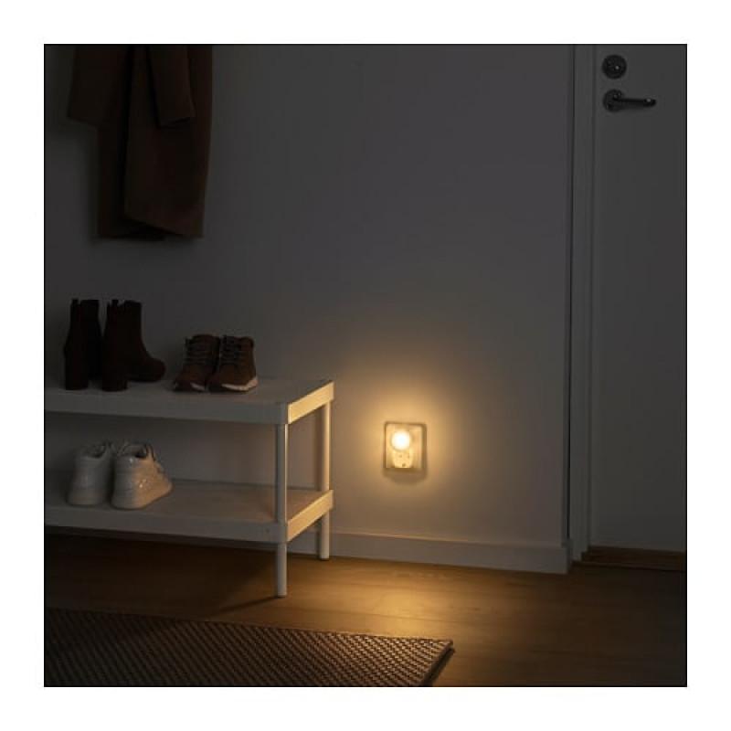 Светодиодный ночник с датчиком, цвет белый 2шт 00418833