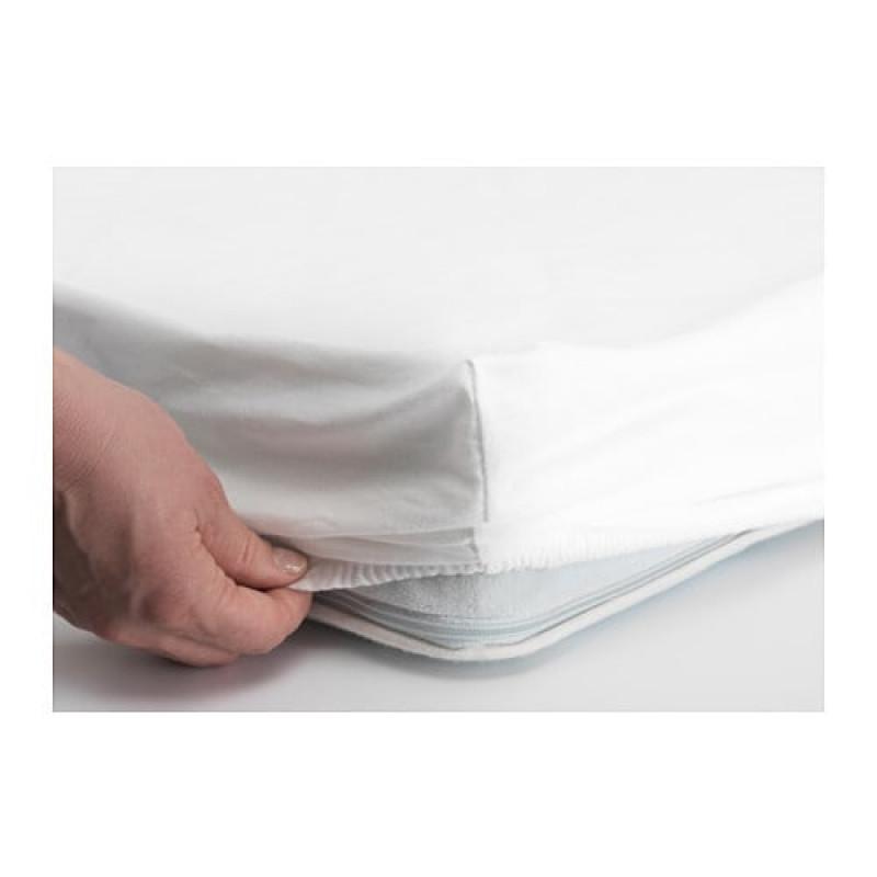 Простыня натяжная для детской кроватки, цвета белый, розовый, 2шт 10374094