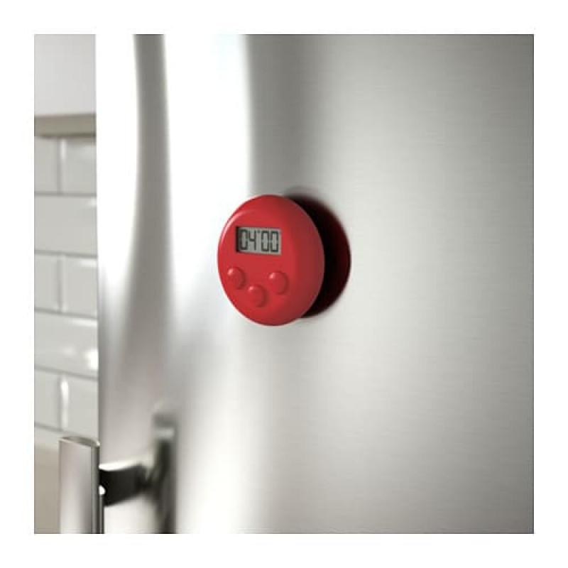 Таймер кухонный, цифровой, цвета красный, белый/черный 90374858