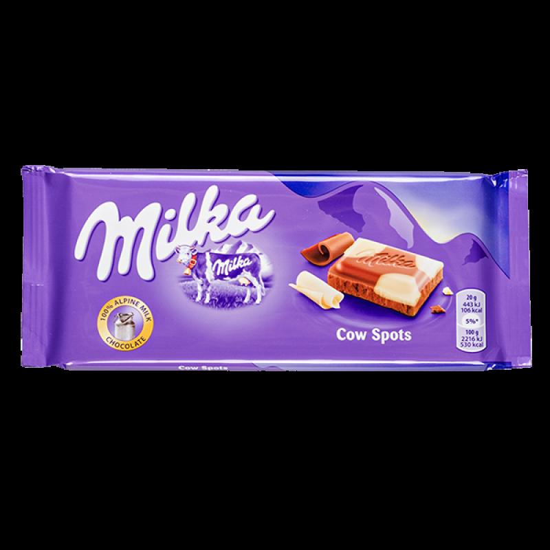 Шоколад Milka Cow Spots 100гр