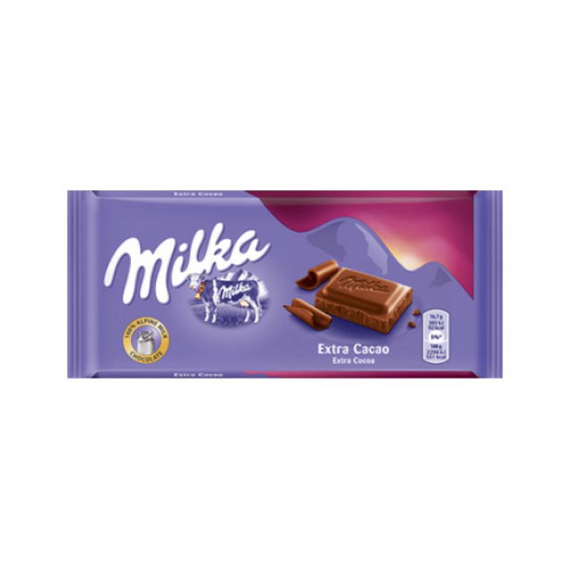 Шоколад Milka Extra Cacao 100гр