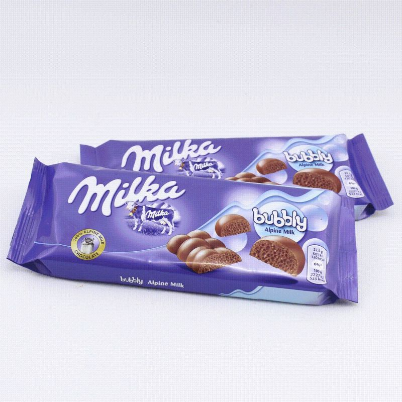 Шоколад Milka bubbly Alpine Milk 90гр