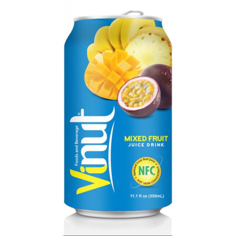 Сок Микс (ананас, манго, маракуйя, банан) напиток Vinut 330 мл