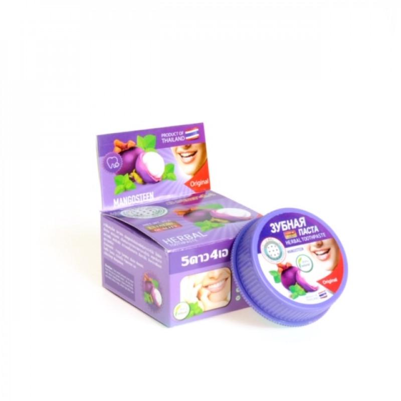 """Зубная паста """"Мангостин"""" 5Star4a Herbal toothpaste mangosteen, 25 г"""