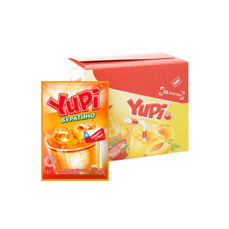 Yupi / Растворимый напиток со вкусом Буратино YUPI (блок 24шт по 15гр)
