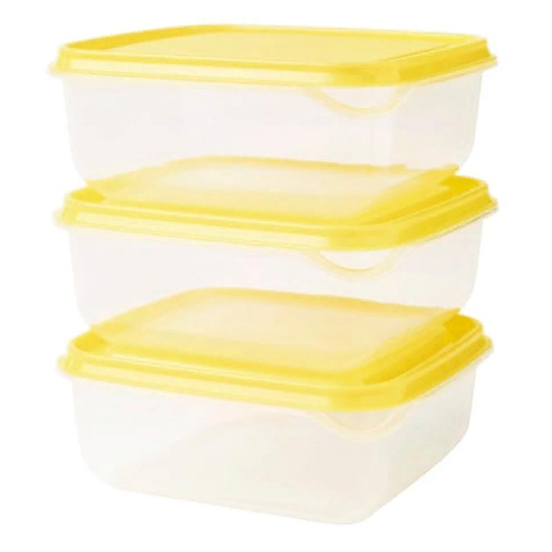 Контейнер ПРУТА, прозрачный, желтый