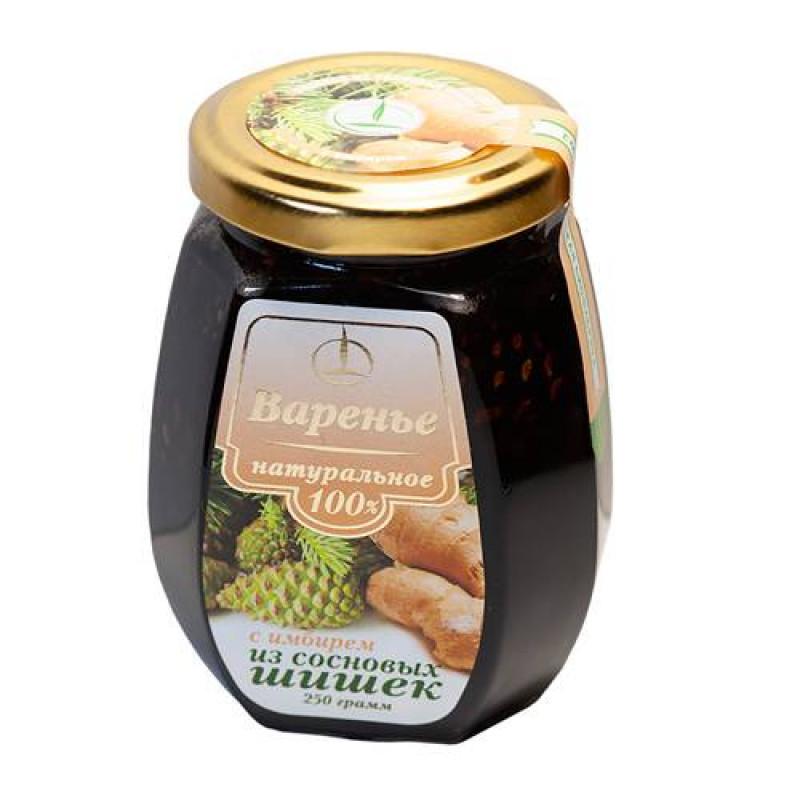 Варенье с имбирем из сосновых шишек 250гр