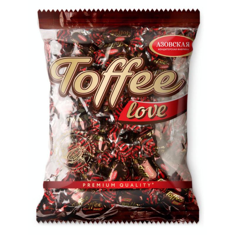 """Азовская кондитерская фабрика / Ирис глазированный шоколадный """"Toffee love"""" 1 кг"""