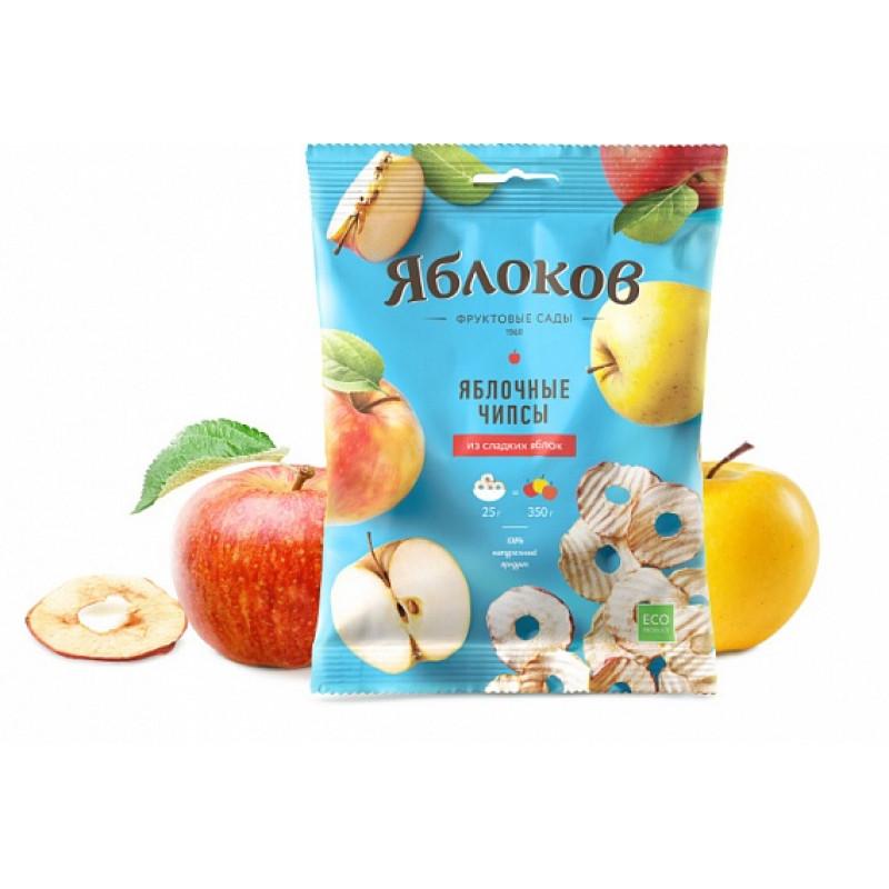 """Натуральные Яблочные чипсы """"Из сладких яблок"""" 25г"""