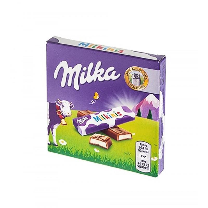 Шоколад Milka milkinis 43,75гр (внутри 4шт по 10,94гр) УЦЕНЕННЫЙ ТОВАР