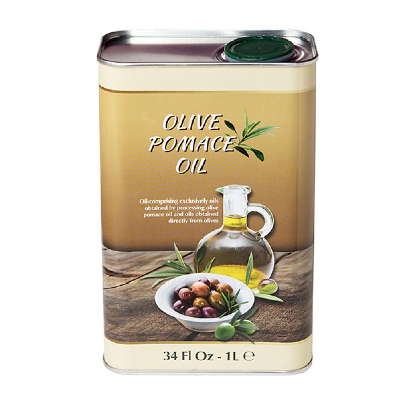 Натуральное оливковое масло Olive Pomace Oil холодного отжима (1 литр).  Италия