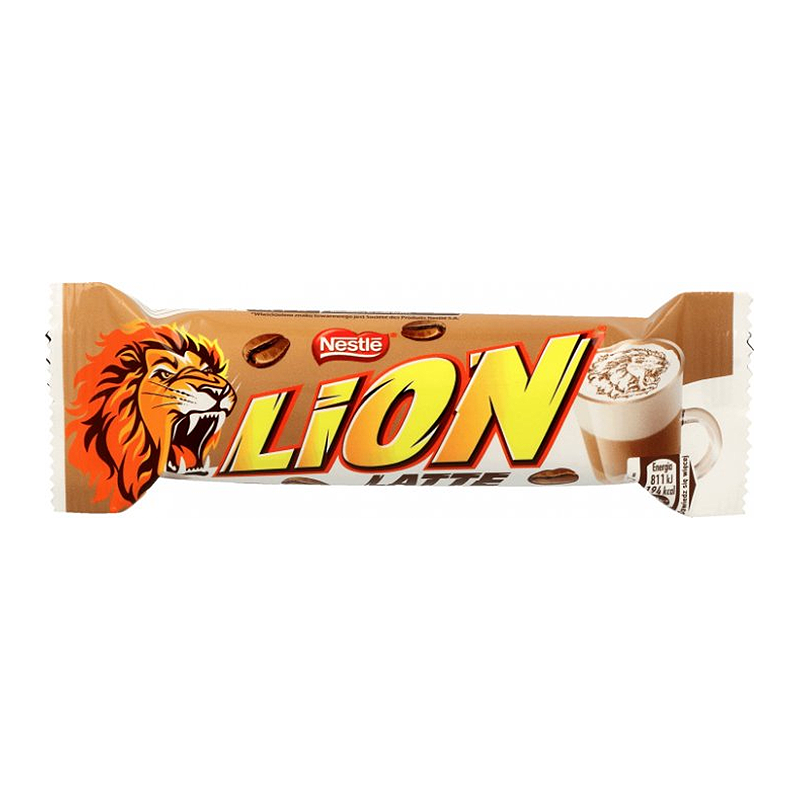Nestle Lion Latte шоколадно-карамельный батончик 40гр