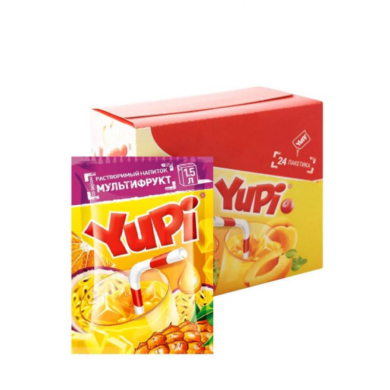 Yupi / Растворимый напиток мультифрукт YUPI (блок 24шт по 15гр)