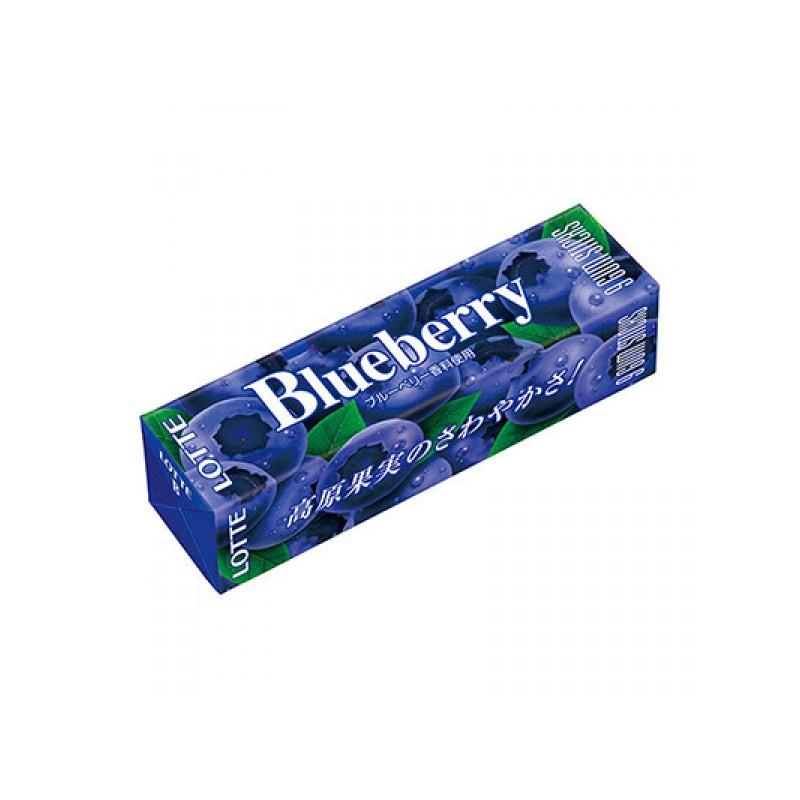 Жевательная резинка Lotte BLUEBERRY GUM 9 пластинок SALE