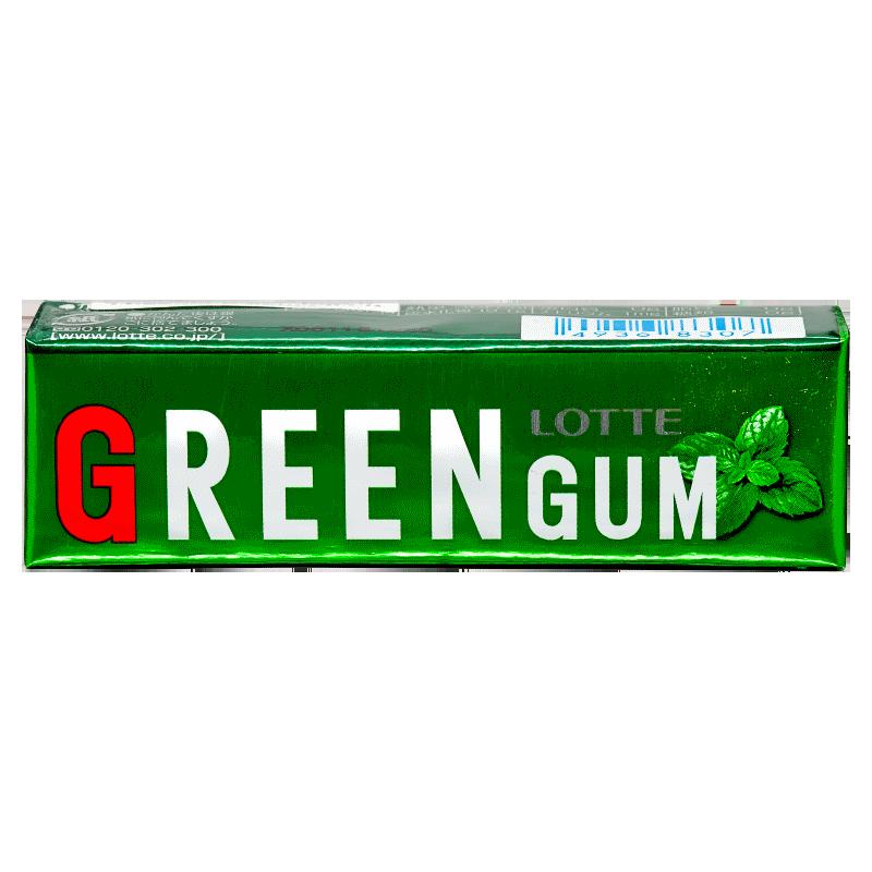 Lotte Green Gum Жевательная резинка Свежая зеленая мята 9 пластинок SALE