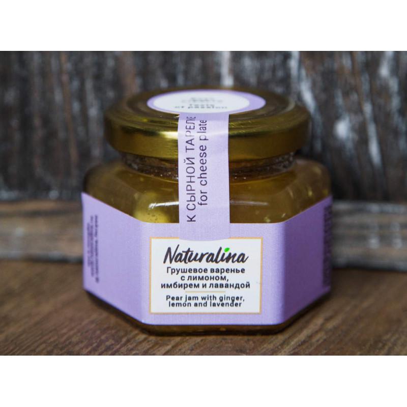 Naturalina Грушевое варенье с лимоном, имбирем и лавандой к Козьему сыру, 100 г