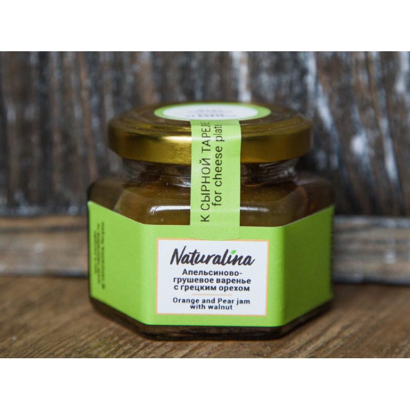 Naturalina Апельсиново-грушевое варенье с грецким орехом, к сыру 100 г SALE