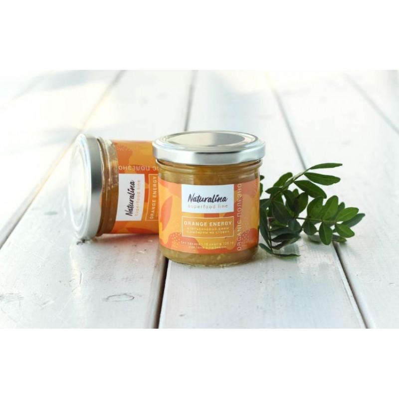 Naturalina Апельсиновый джем с имбирем без сахара на стевии, 170 г