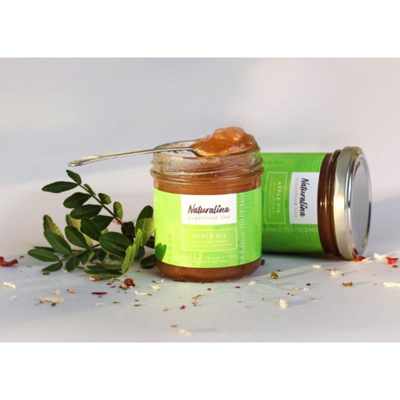 Naturalina Яблочный джем с корицей без сахара на стевии, 170 г SALE