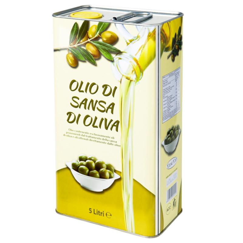Оливковое масло для жарки Olio di sansa di oliva  5 л   ( Италия )
